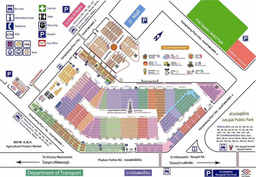 Mapa do mercado Chattuchak
