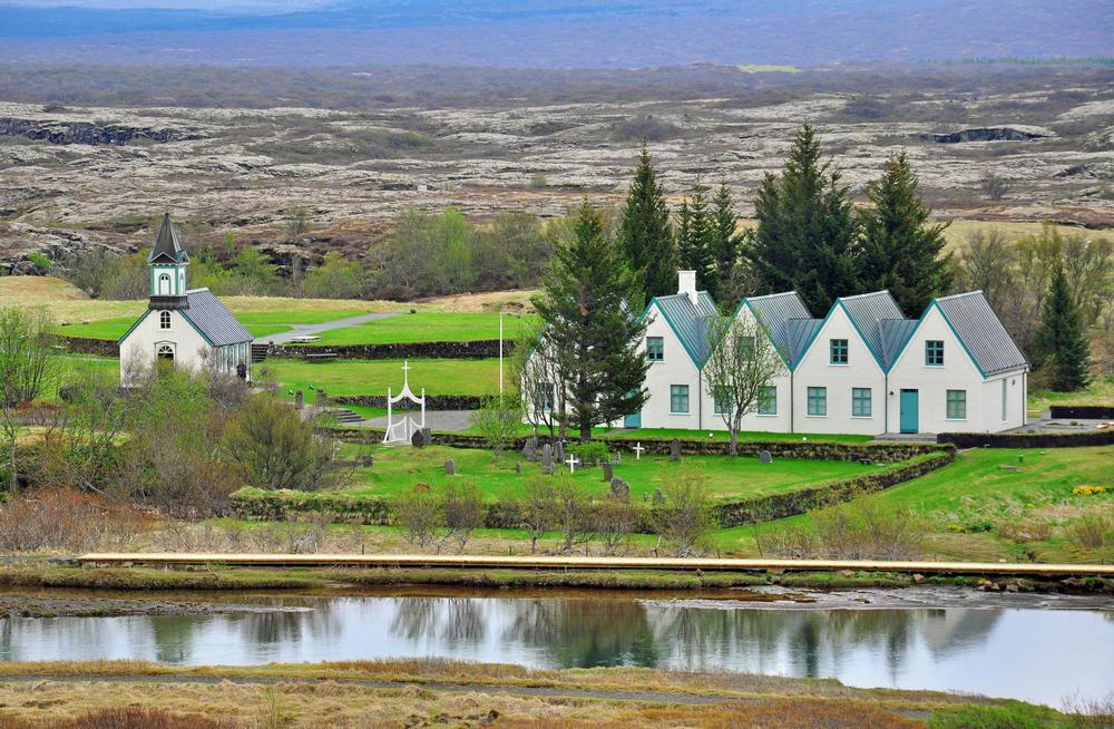 Casa de verão do 1º ministro em Thingvellir - foto: Arseniy Krasnevsky - shutterstock.com