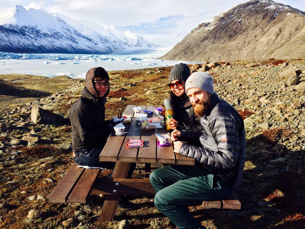 picnic no pé da geleira - foto Lalai Persson