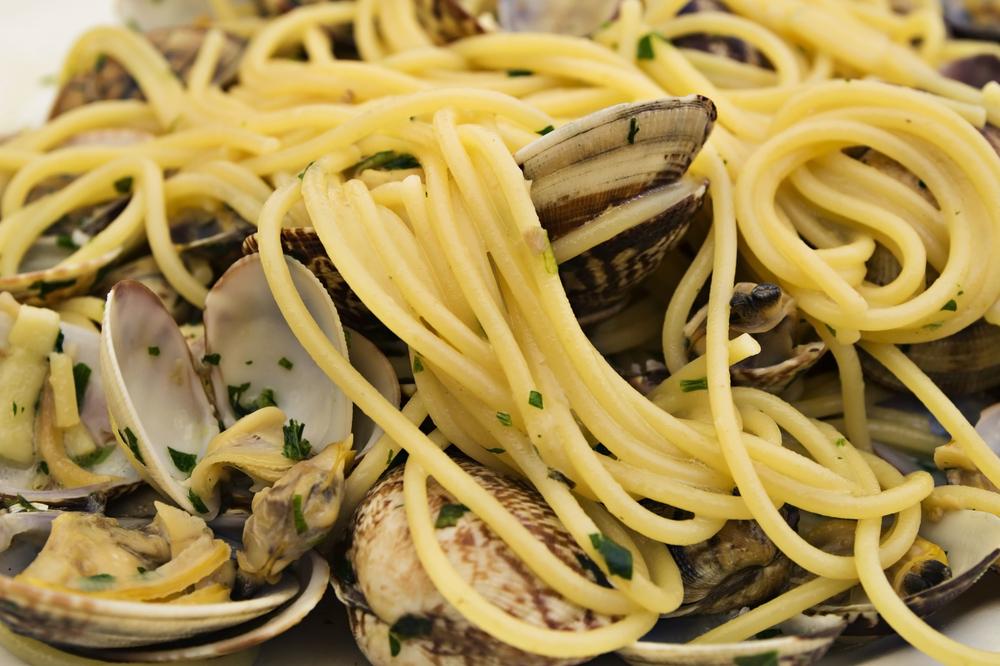 Um dos meus pratos favoritos: espaguete ao vongole
