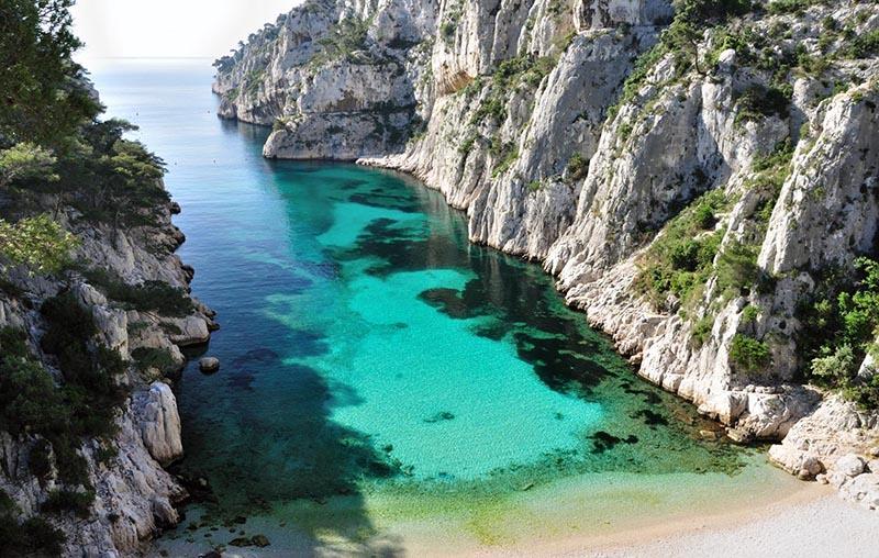 Calanque d'En-vau entre Marselha e Cassis. Foto: Calanque13