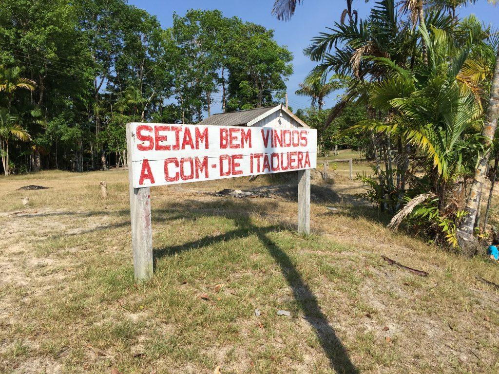 Entrada da comunidade de Itaquera, onde moram 198 pessoas