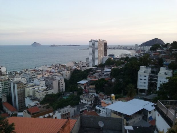 vista do bar do alto