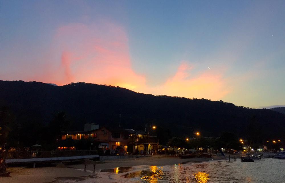 Pôr-do-sol no Abraão (foto: Renato Salles)