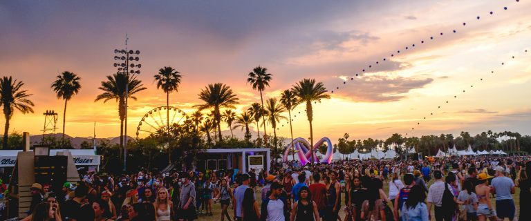 Por do sol no Coachella. Foto: wikipedia