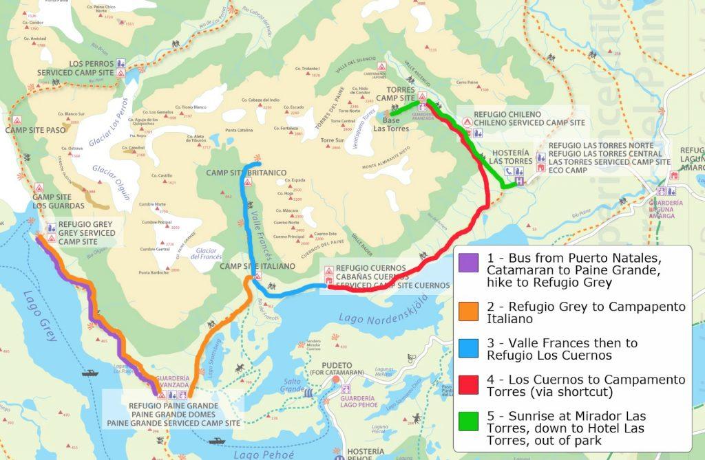 Mapa trecho W - www.stephandben.com/