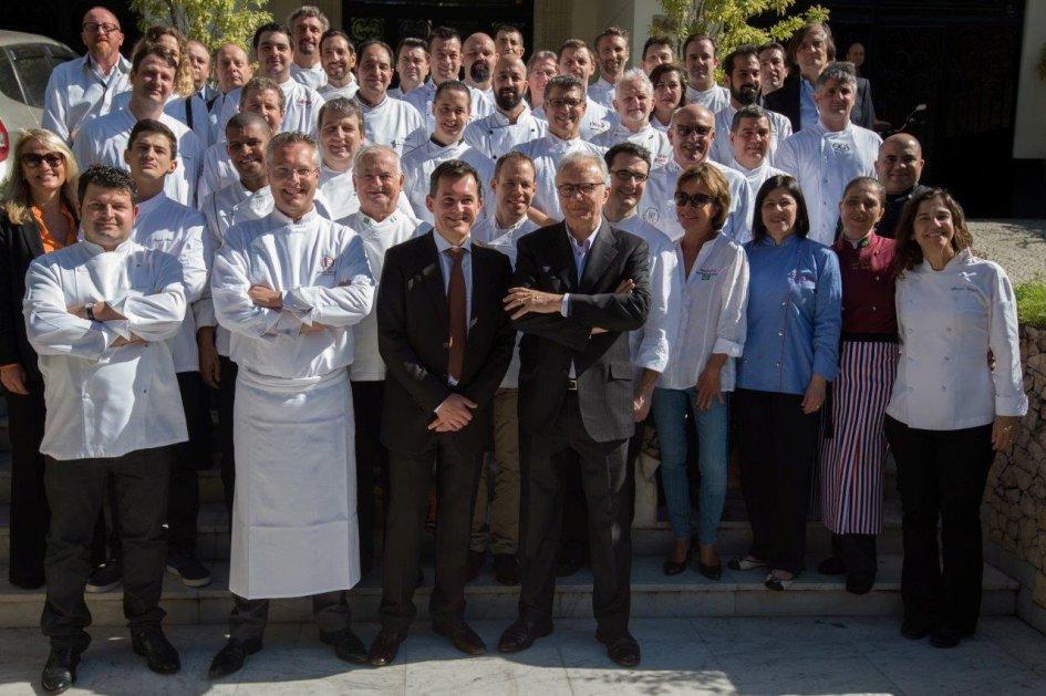 Os chefs da edição de 2015 em SP são recebidos pelo star-chef Alain Ducasse