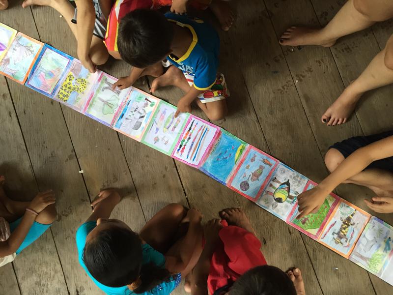 Visitando a Escola Viva Amazônia. Foto: Lalai Persson