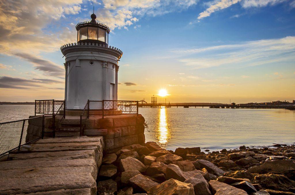 Bug Light Lighthouse in Portland Maine at sunrise. Foto: Stu99