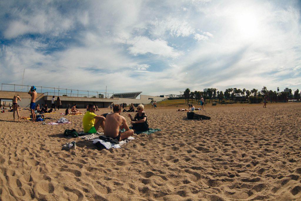 Eu fazendo a gótica na praia ao lado do Beach Club. Foto: Ola Persson