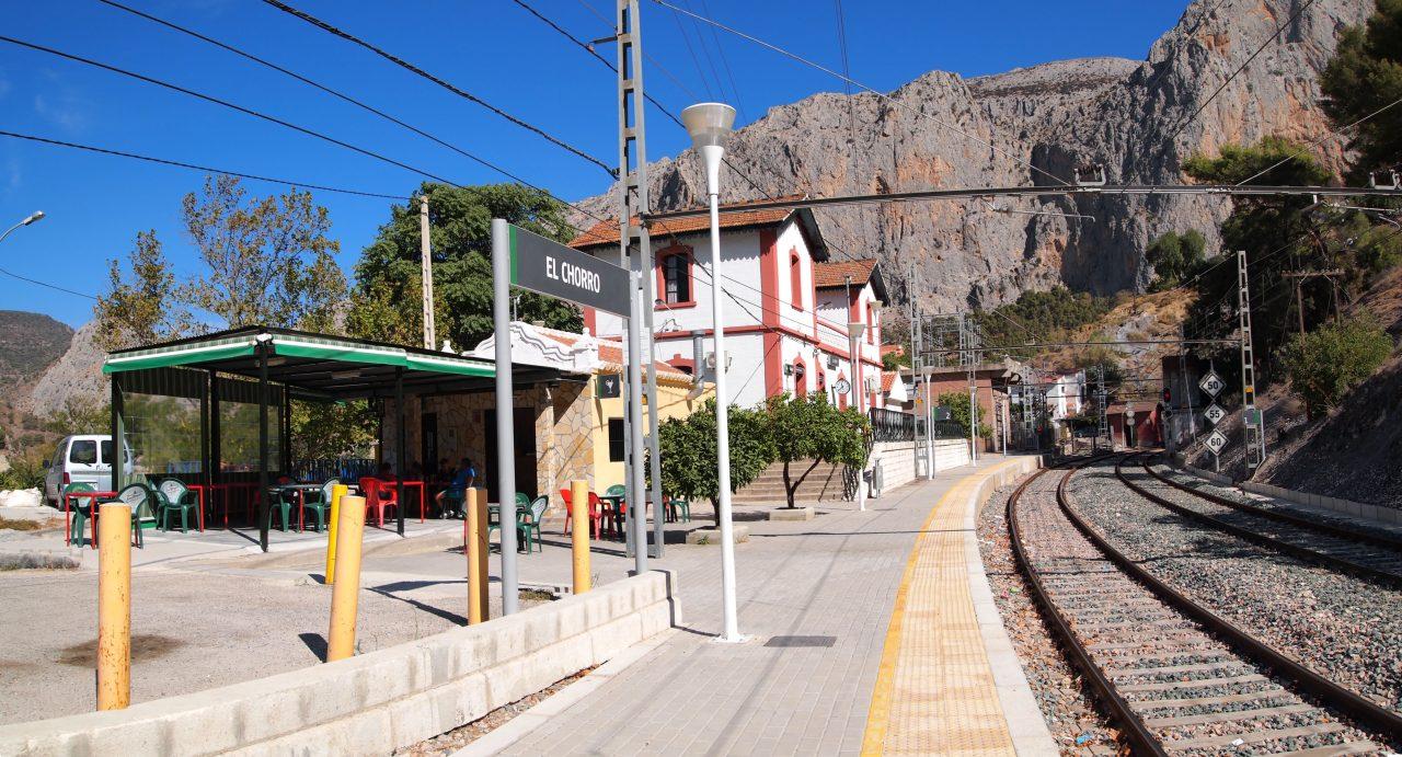 A populosa estação El Chorro