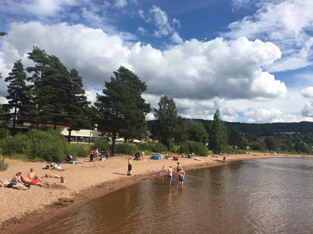 A praia de Rättvik, que lotou no fim de semana