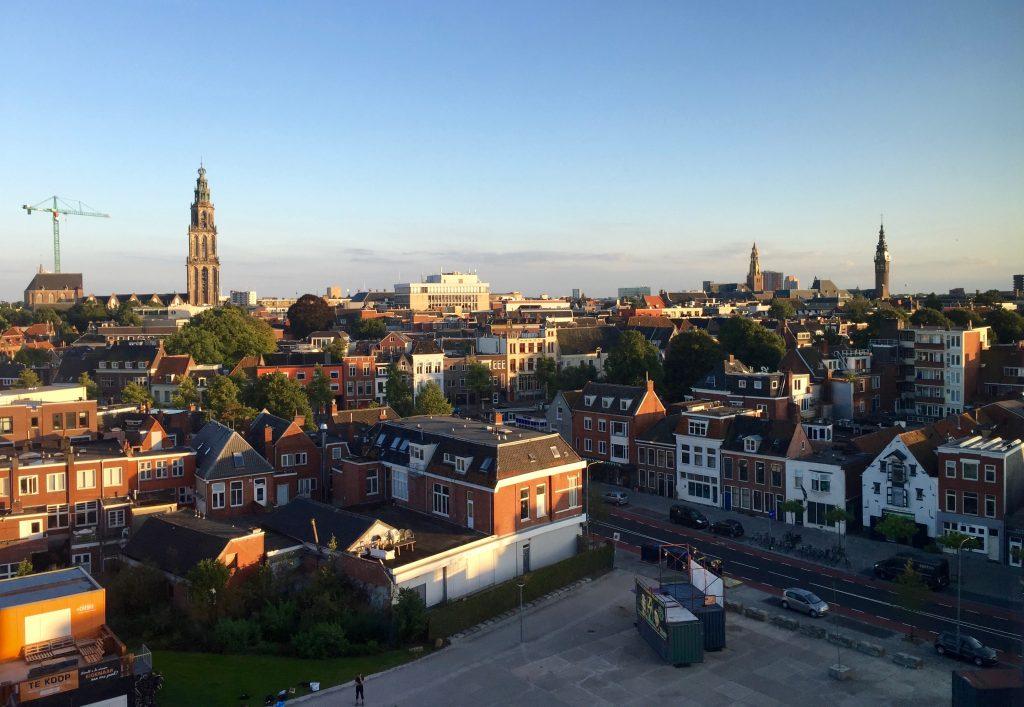 Vista da cidade a partir de um dos quartos