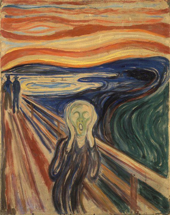 O Grito, Edvard Munch, 1893. Wikipedia.