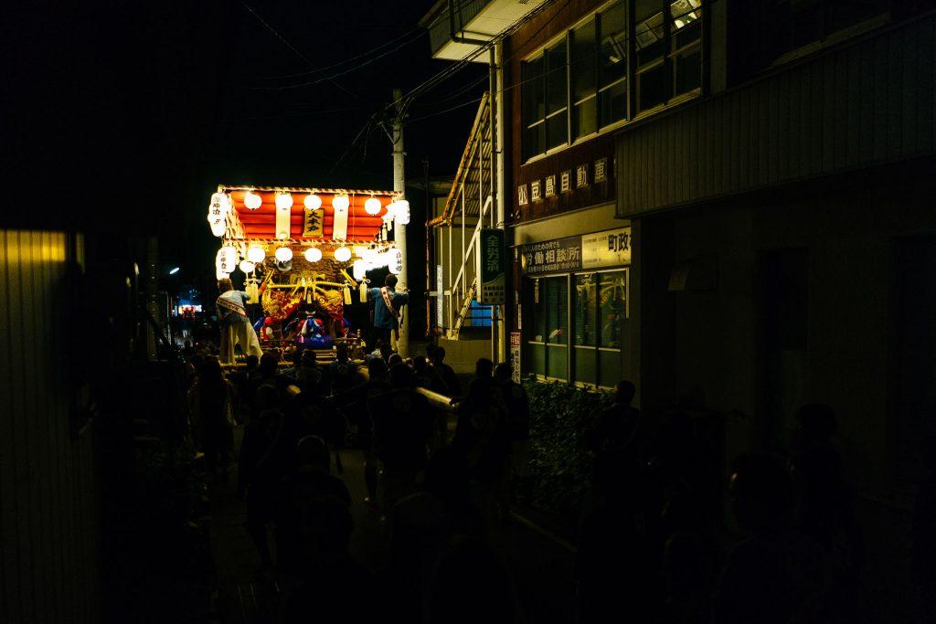 O Festival de Outono que pegamos na volta pro hotel, em Shodoshima. Foto: Ola Persson