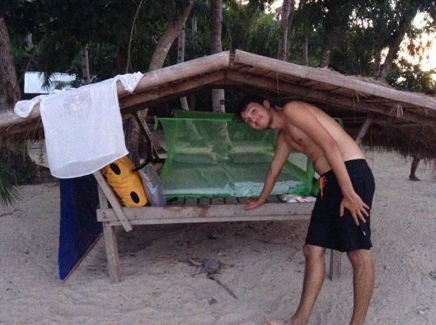 Cabana em um dos acampamentos Tao