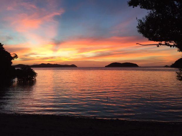Pôr do sol em Palawan