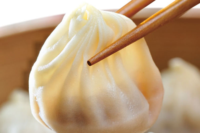 Dumpling no Din Tai Fung. Foto: Divulgação