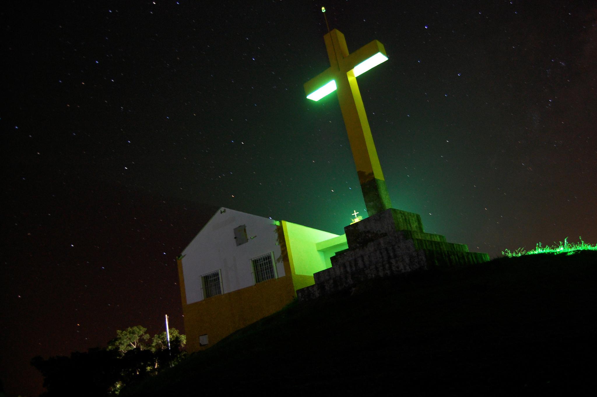 O Santuário à noite – foto: Diogo Rodrigues Gonçalves