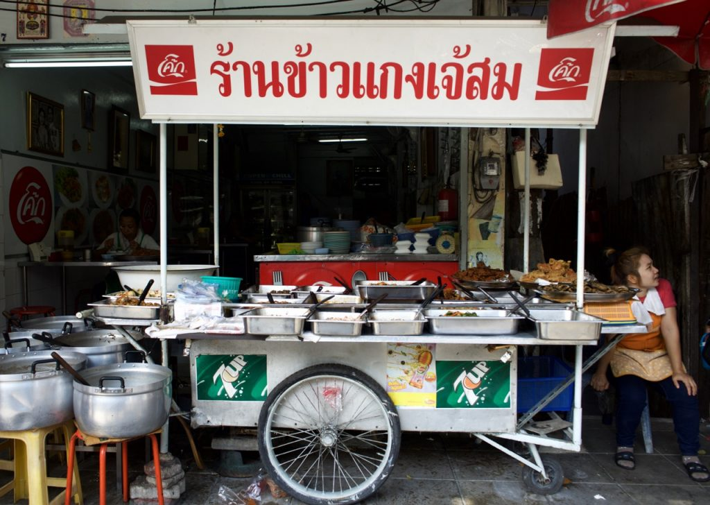 comida de rua bangkok