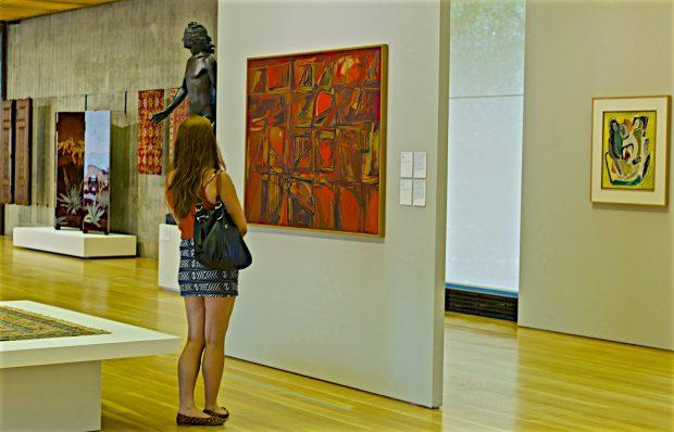 Vistas internas das Galerias do Centro de Arte Moderna, 2016. Fotografia: Pedro Ribeiro Simões. Flickr