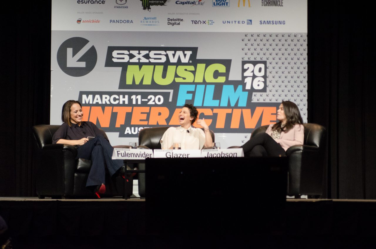 """Marie Claire Talks to the Stars of Broad City"" at SXSW 2016. Photo by Sandra Dahdah/Getty Images.,"
