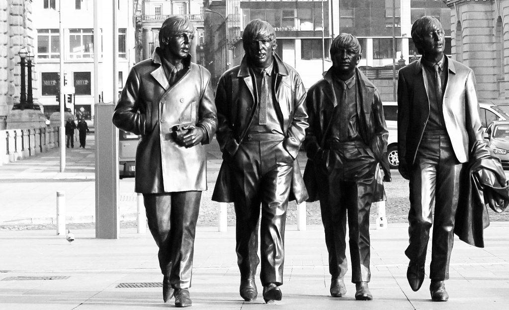 Estátua dos Beatles em Liverpool. Foto: Les Haines