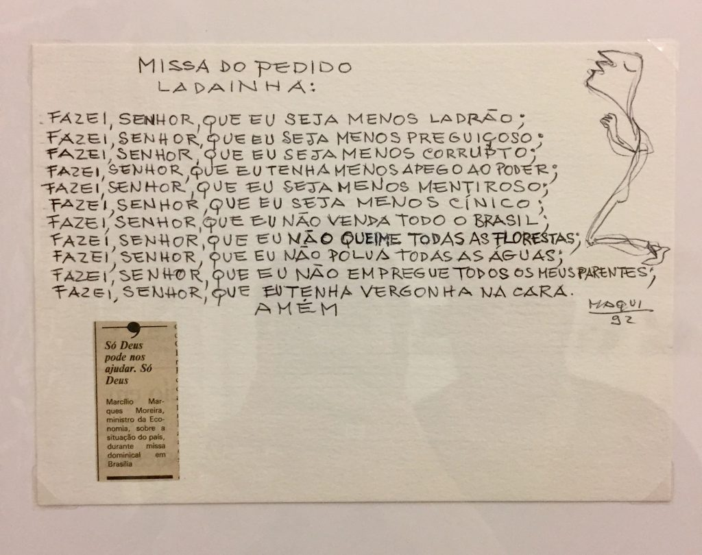 Desenho do Iberê falando do Collor. Qualquer semelhança com a atualidade não é mera coincidência. - foto: Renato Salles