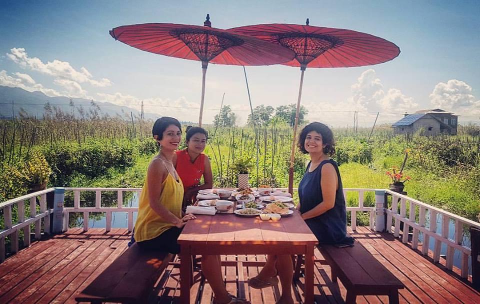 May, Luciana e Vanessa na Mr. Min Cooking Class