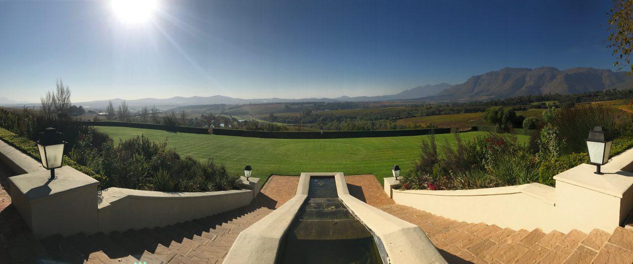 Vista da vinícola Ernie Els, África do Sul - foto: Renato Salles