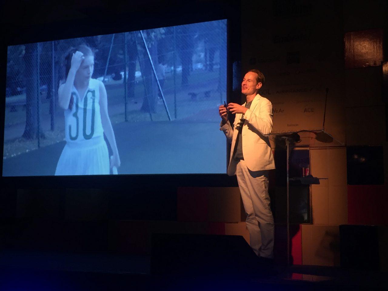Dan Roosegaarde fala no Wired Festival. Foto: Vanessa Mathias
