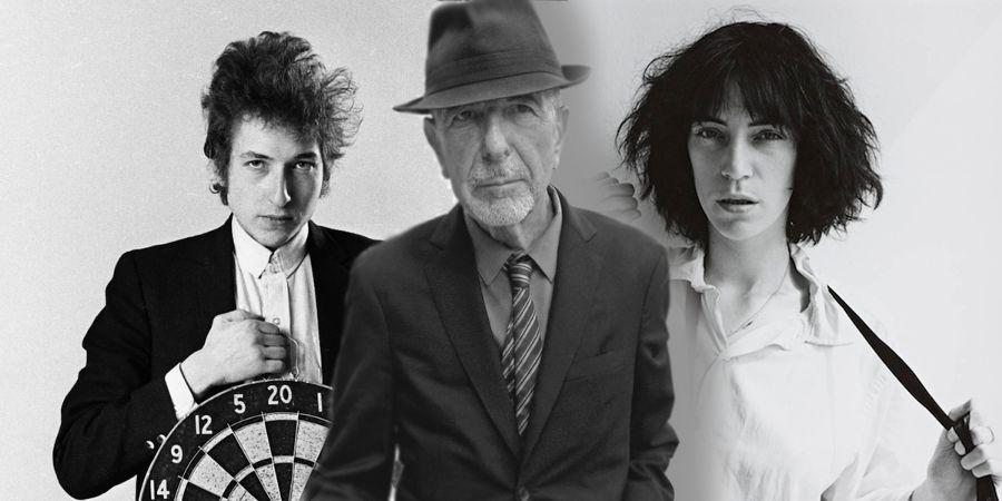 Bob Dylan, Leonard Cohen e Patti Smith