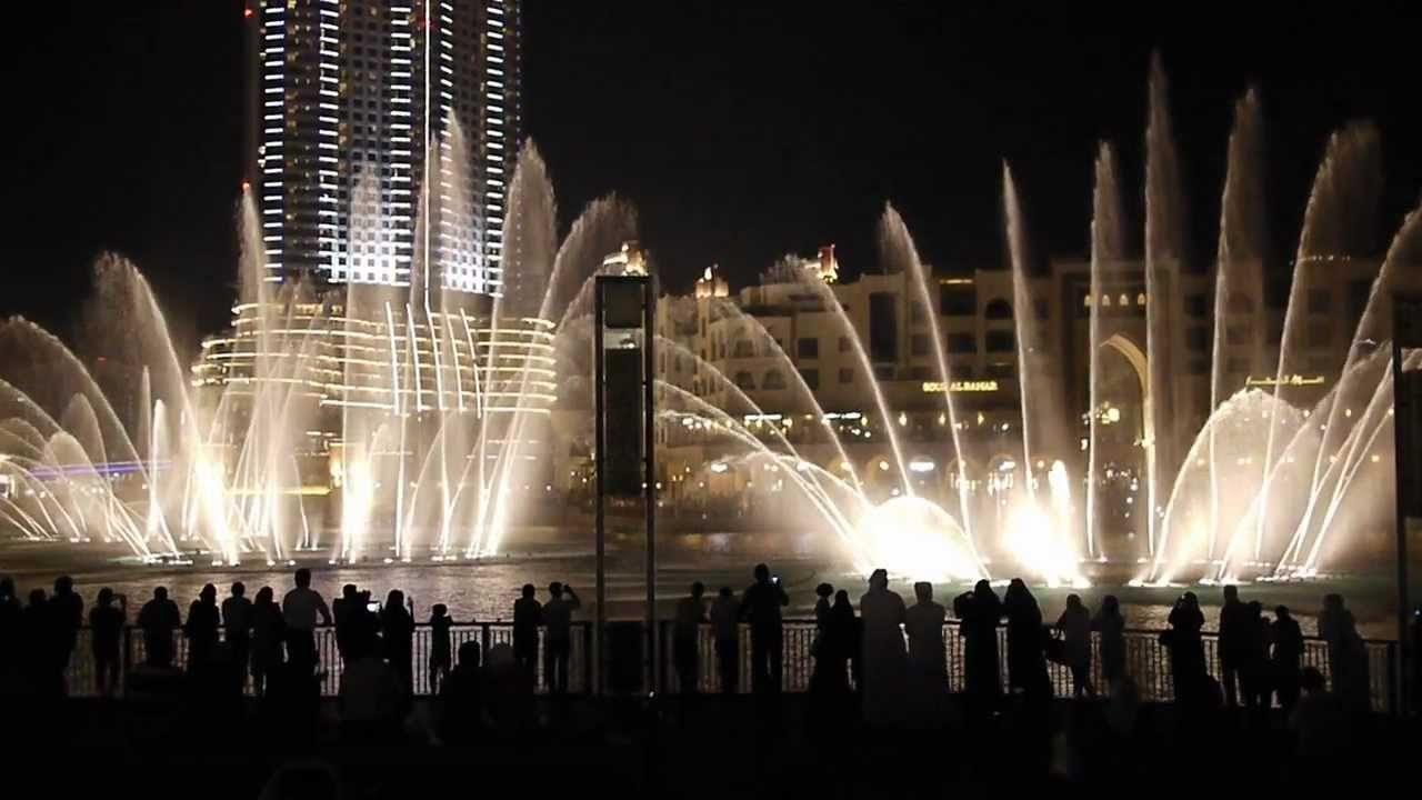 Show das águas. Foto: Visit Dubai