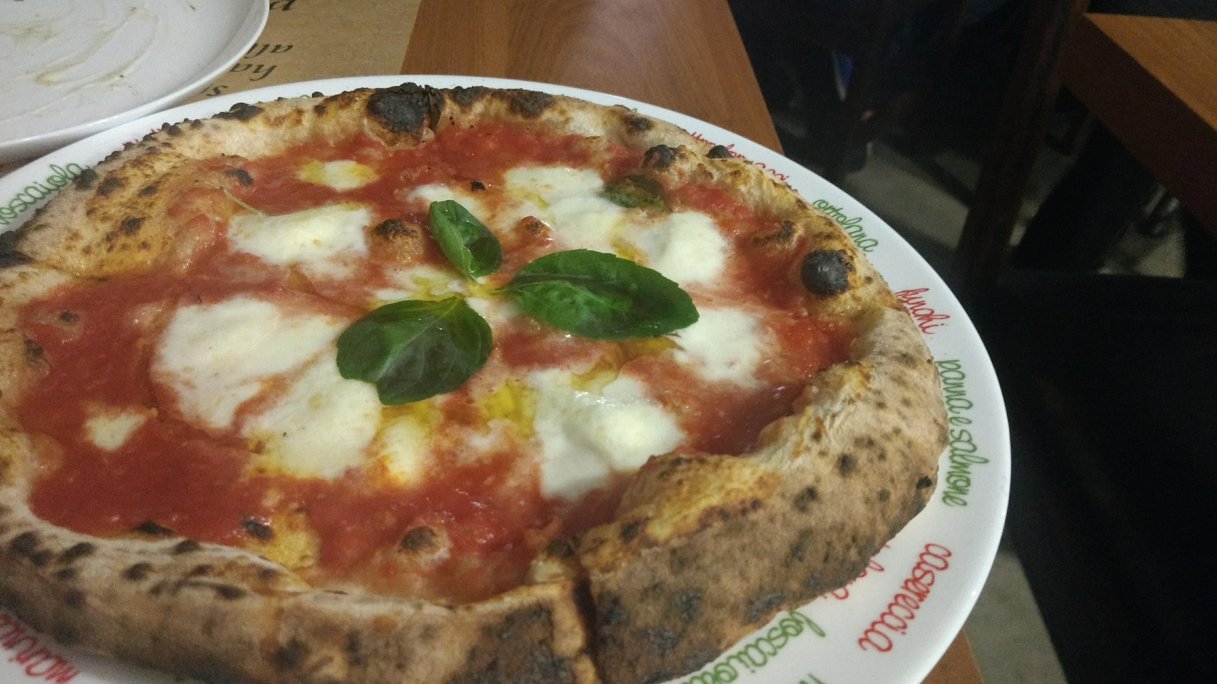 Pizza Marguerita. Foto: Daniella Valentin
