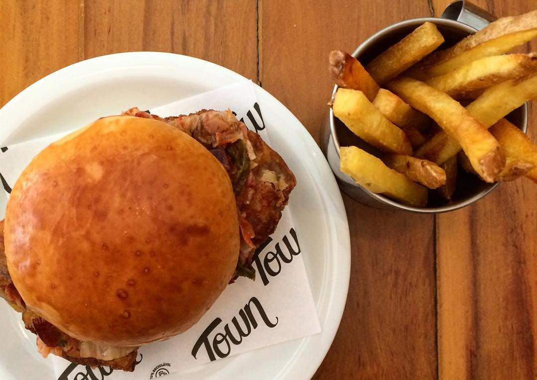 town co sanwich, sanduíche, jardins, burger