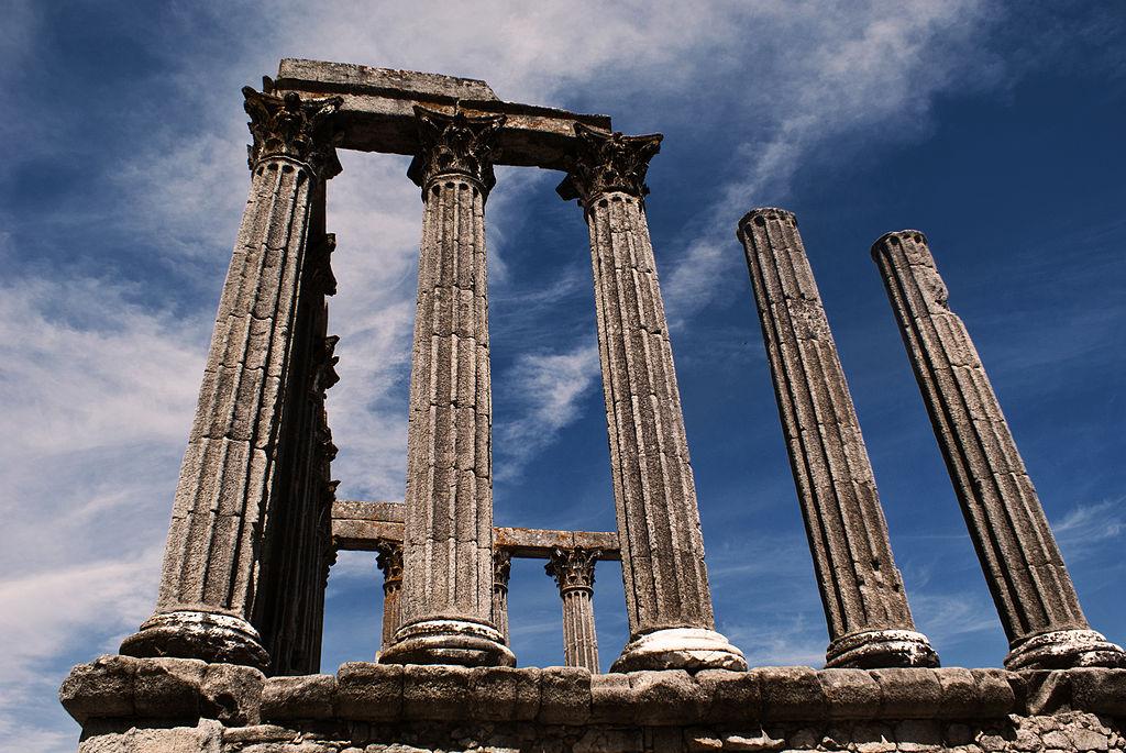 templo romano, évora, alentejo, portugal
