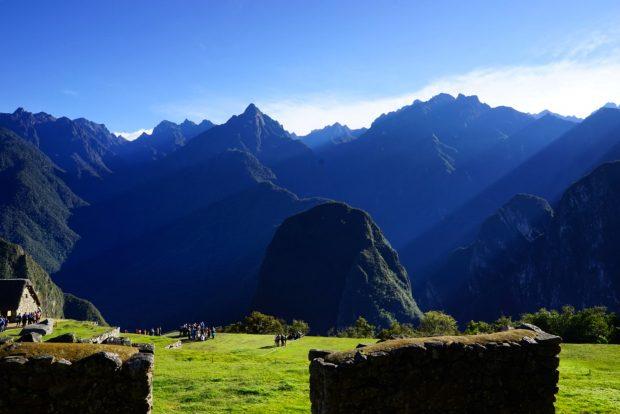 O dia nascendo em Machu Picchu