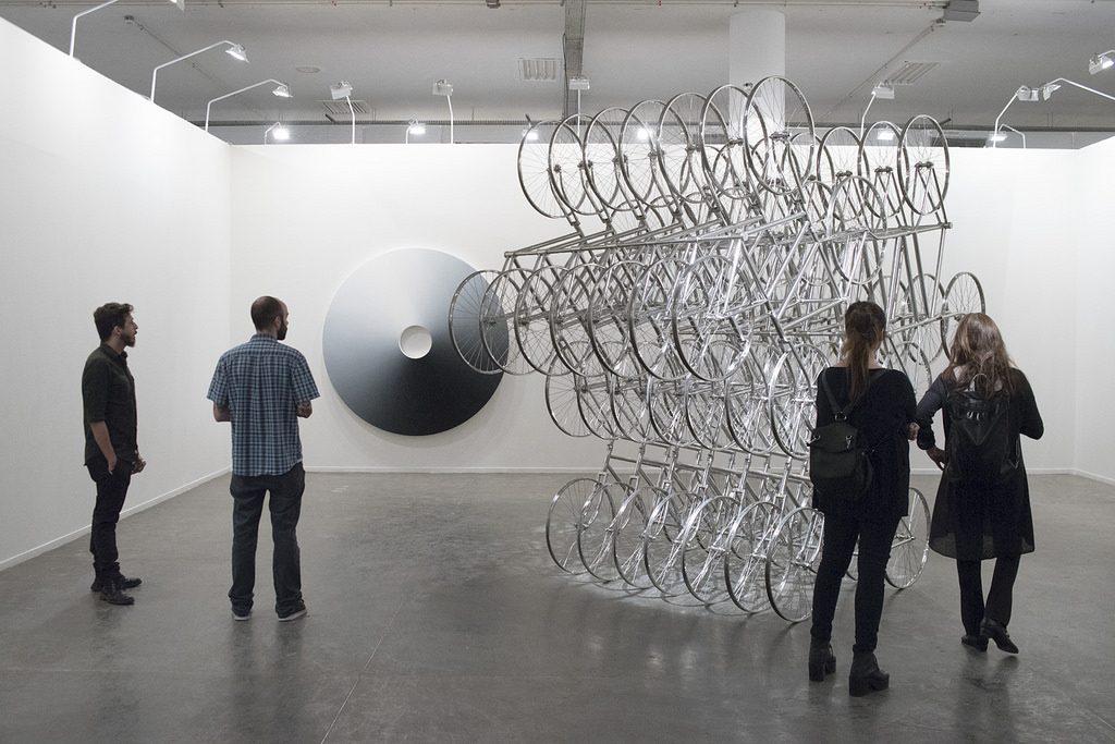 Ai Wei Wei e Olafur Eliasson. Foto: Leo Eloy para SP-Arte/2018