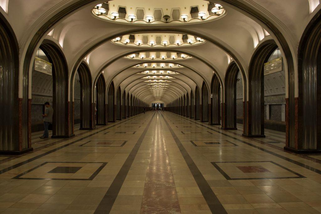 Estação Mayakovskaya, Moscou. Foto: Paula Abrahão/Eduardo Shiota Yasuda