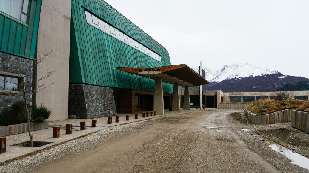 A área externa do Arakur Ushuaia. Foto: Ola Persson