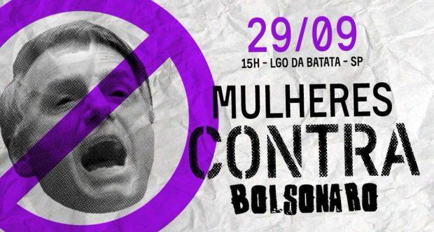Mulheres Contra Bolsonaro / Foto: divulgação