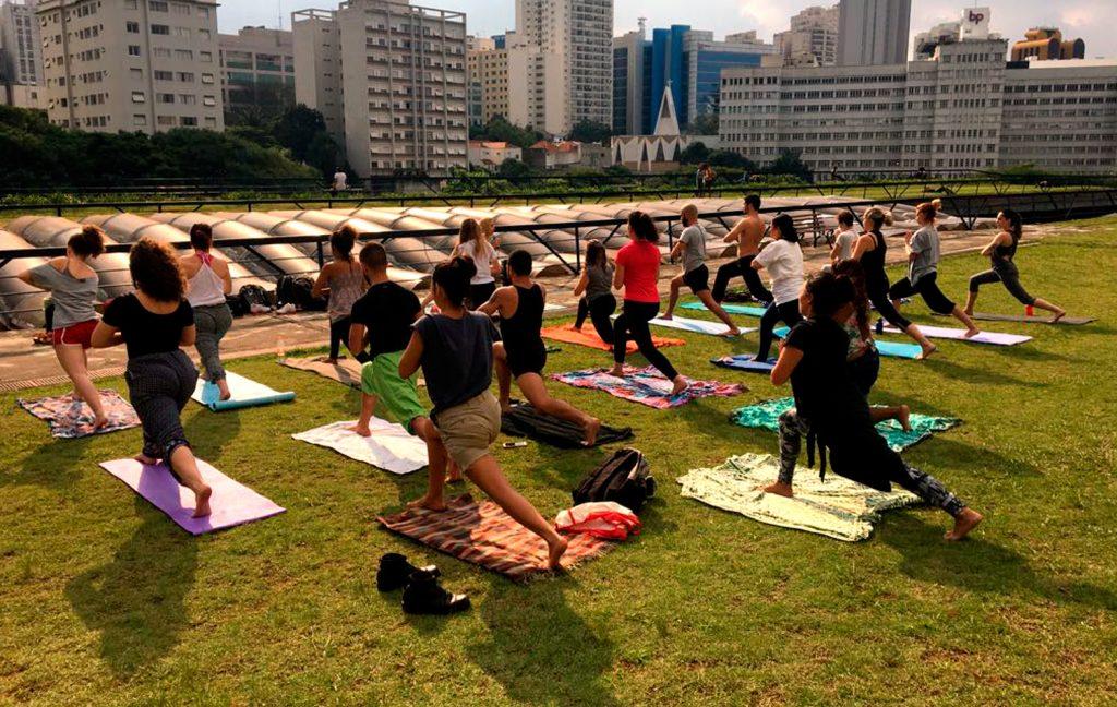 Yoga no Jardim Suspenso, CCSP. Foto: divulgação
