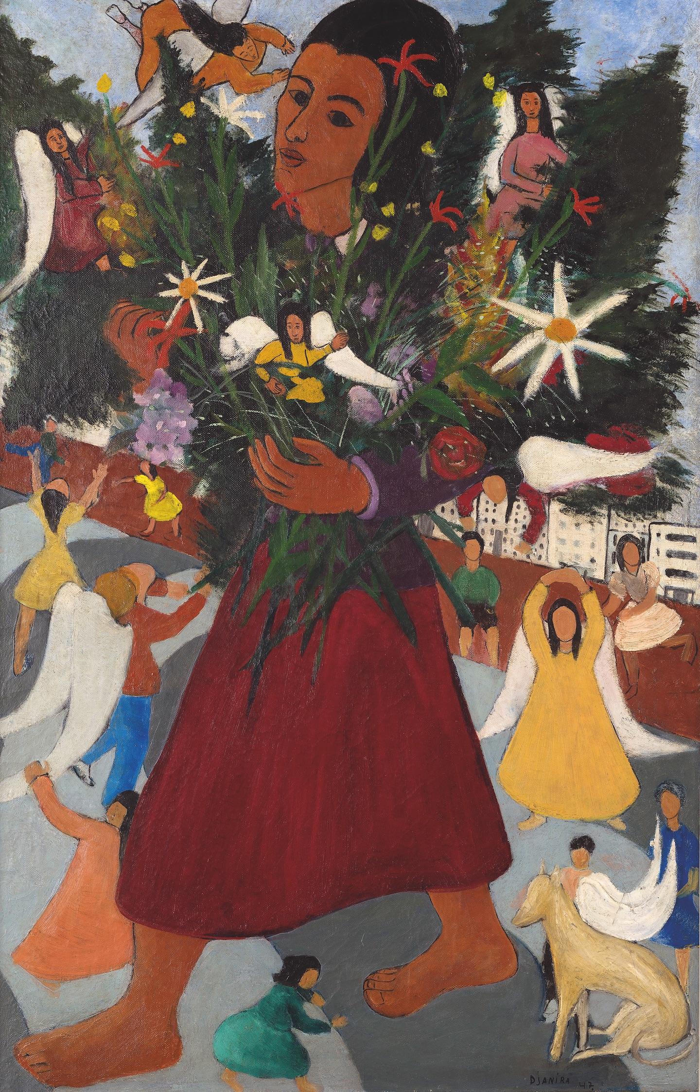 Djanira da Motta e Silva. Vendedora de Flores (1947) - Acervo MASP - Foto: Eduardo Ortega